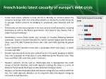 french banks latest casualty of europe s debt crisis