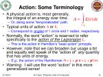 action some terminology