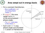 area swept out in energy basis