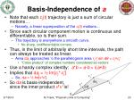 basis independence of a