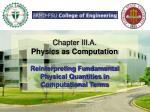 chapter iii a physics as computation