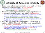 difficulty of achieving infidelity