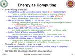 energy as computing