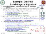example discrete schr dinger s equation