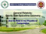 general relativity gravity from spacetime geometry