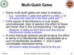 multi qubit gates