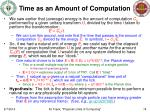 time as an amount of computation