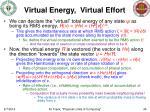 virtual energy virtual effort