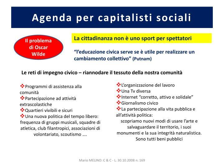 Agenda per capitalisti sociali