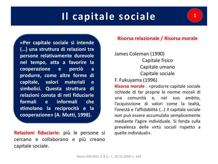 Il capitale sociale