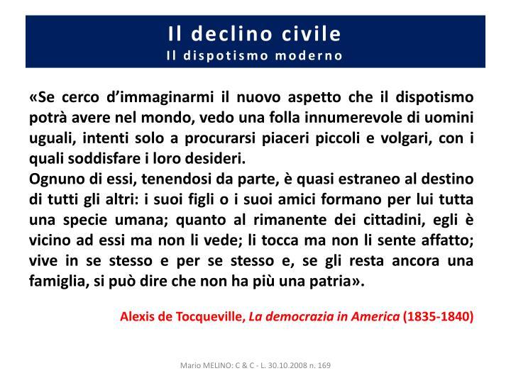 Il declino civile