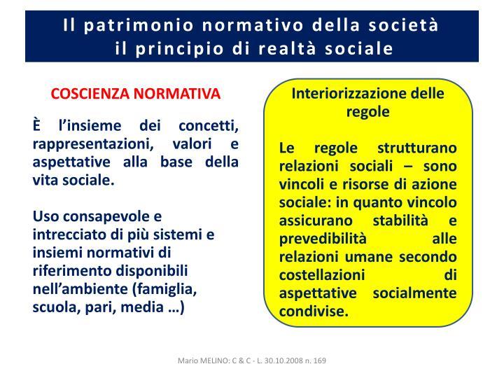 Il patrimonio normativo della società