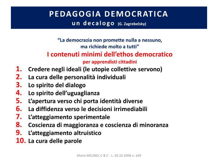 PEDAGOGIA DEMOCRATICA