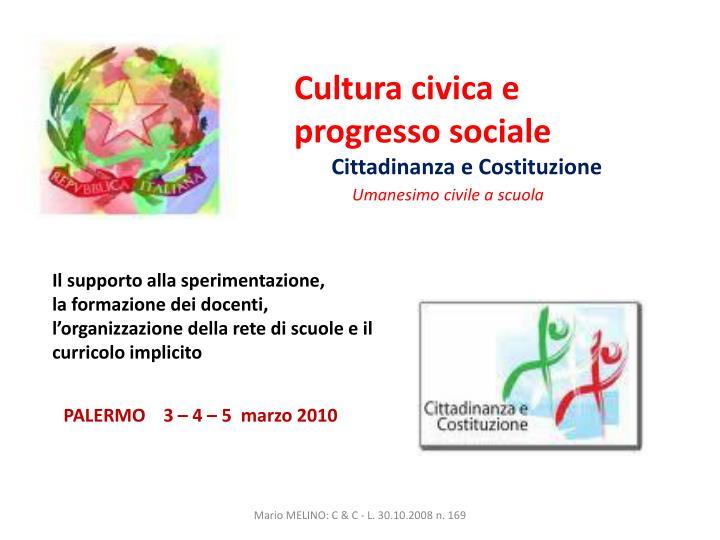 Cultura civica e progresso sociale