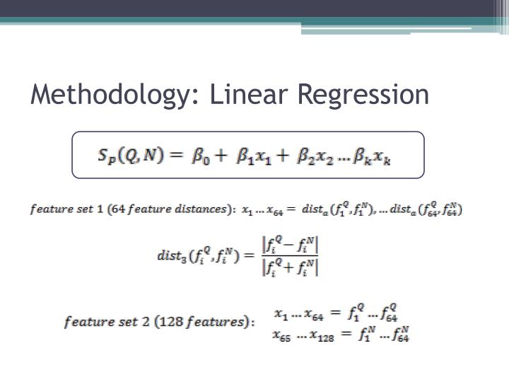 Methodology: Linear Regression
