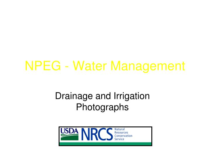 Npeg water management