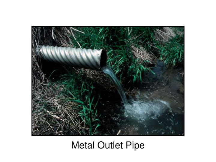 Metal Outlet Pipe