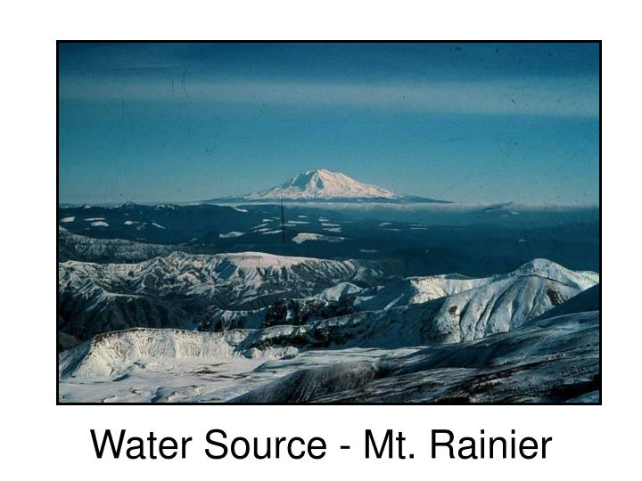 Water Source - Mt. Rainier