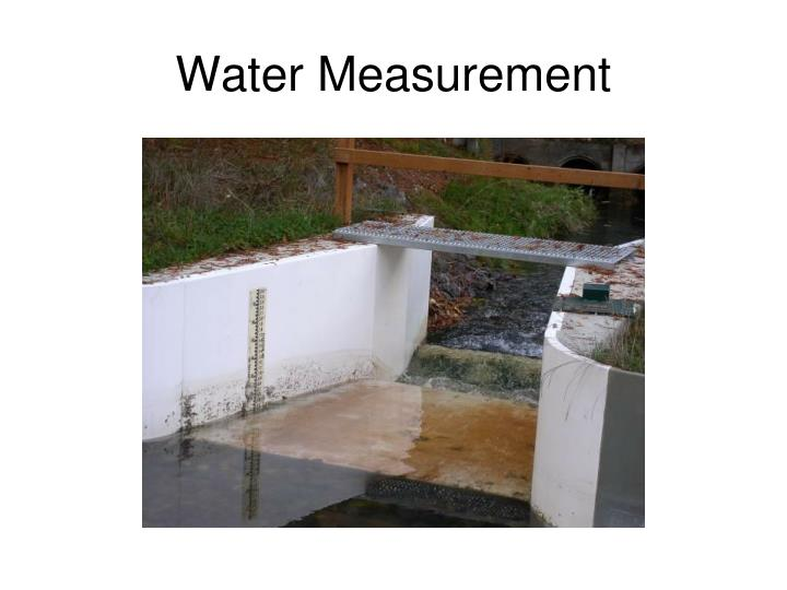 Water Measurement