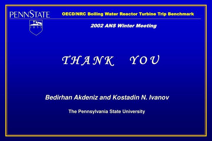 OECD/NRC Boiling Water Reactor Turbine Trip Benchmark