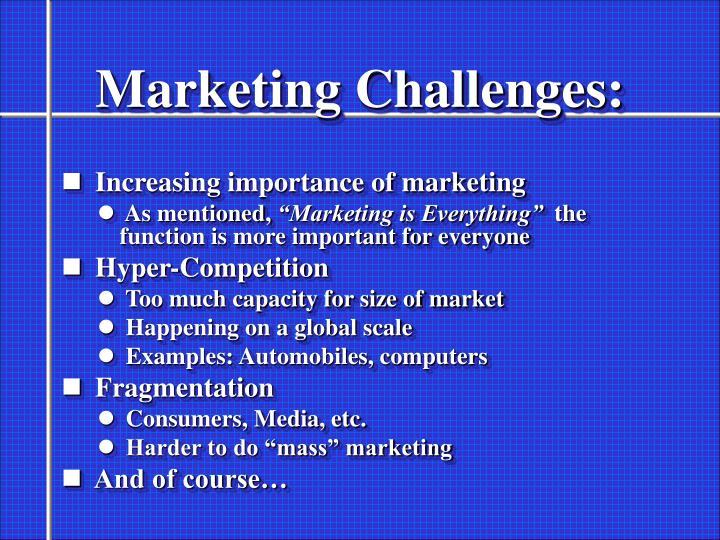 Marketing Challenges: