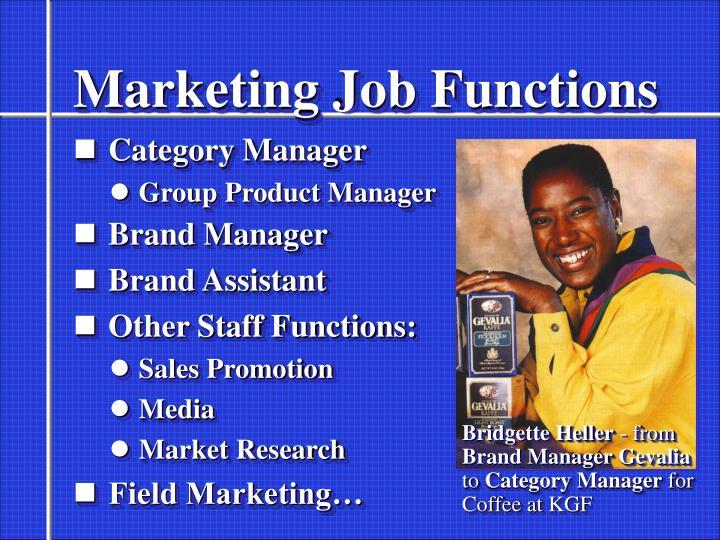 Marketing Job Functions