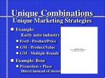 unique combinations unique marketing strategies1