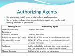 authorizing agents