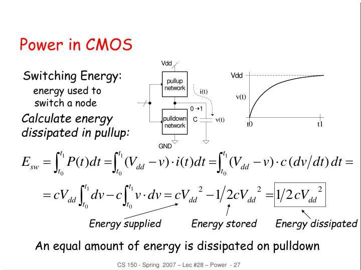 Power in CMOS
