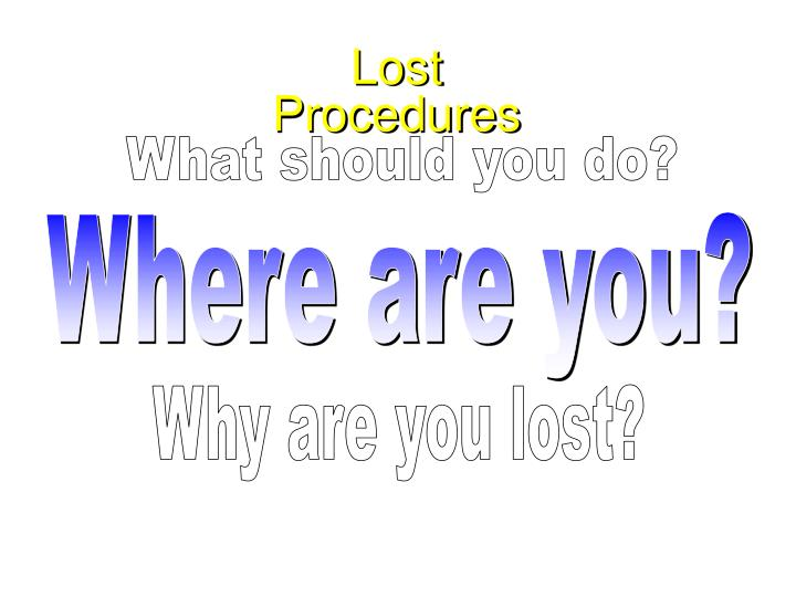 Lost Procedures