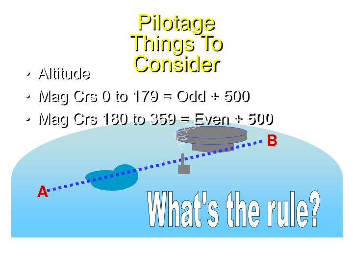 Pilotage things to consider