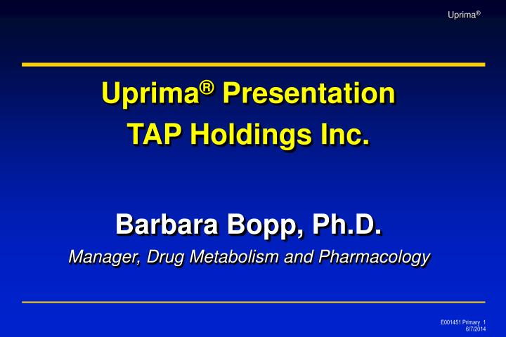 Barbara bopp ph d manager drug metabolism and pharmacology