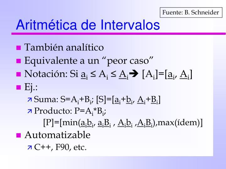 Aritmética de Intervalos