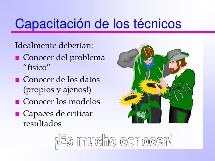 Capacitación de los técnicos