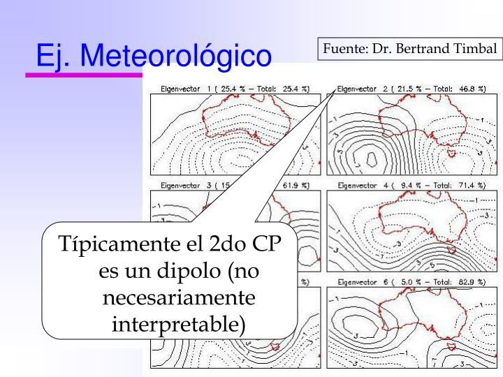 Ej. Meteorológico