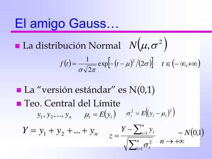 El amigo Gauss…