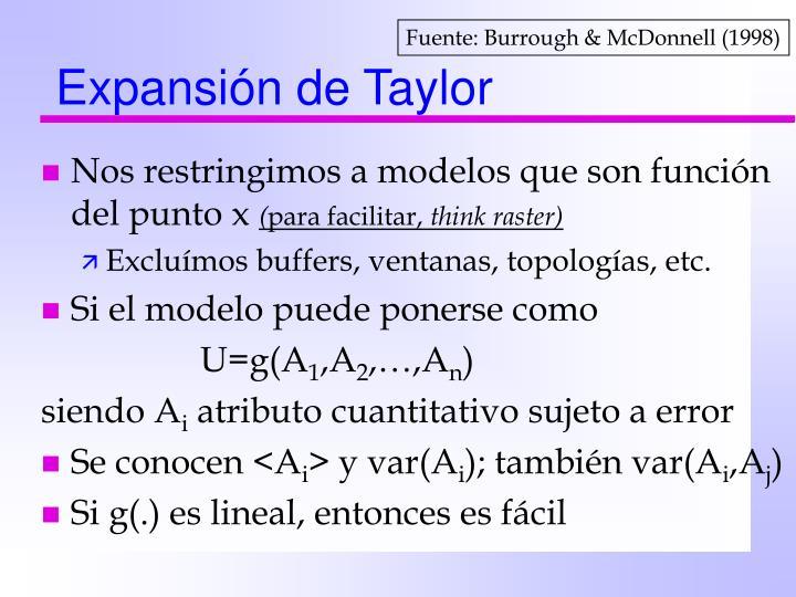 Expansión de Taylor