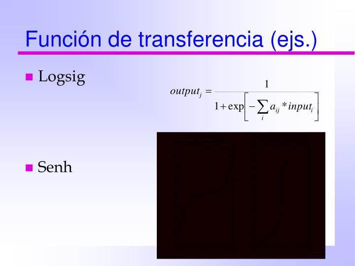 Función de transferencia (ejs.)
