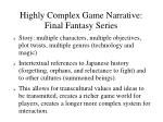 highly complex game narrative final fantasy series