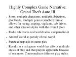 highly complex game narrative grand theft auto iii