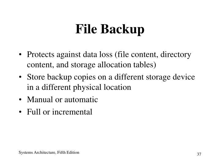 File Backup