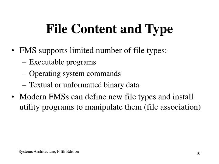 File Content and Type