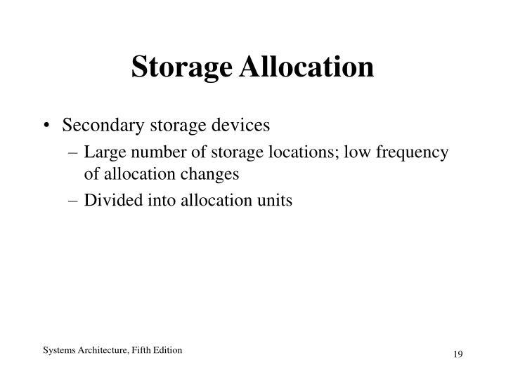 Storage Allocation
