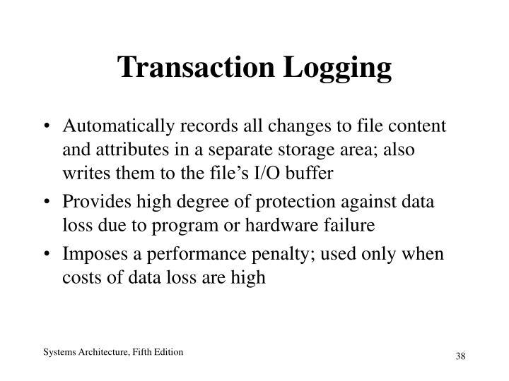 Transaction Logging