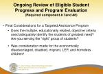 ongoing review of eligible student progress and program evaluation required component 7and 81