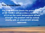 fine grained steels