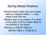 storing nested relations