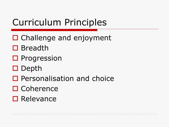 Curriculum Principles