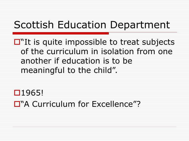 Scottish Education Department