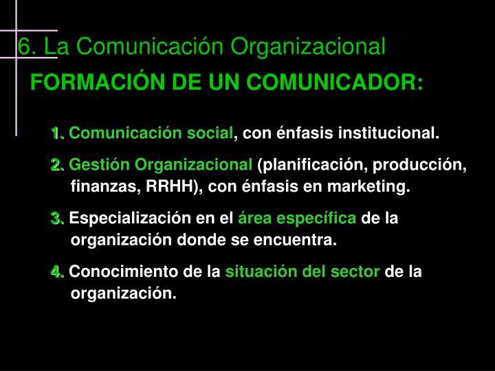 FORMACIÓN DE UN COMUNICADOR: